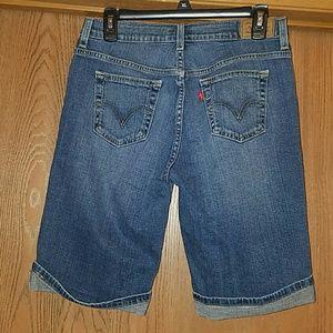 Levis bermuda jean shorts